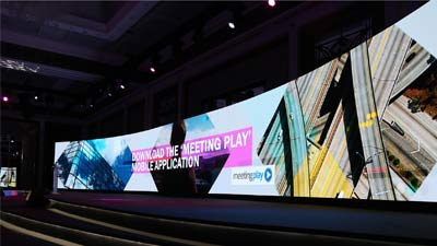 UpadIII curve video wall by eclipse UAE